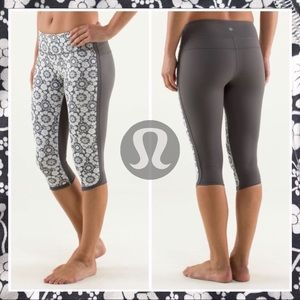 Lululemon Twiggy Printed Nimbus Ignite Crop Size 2